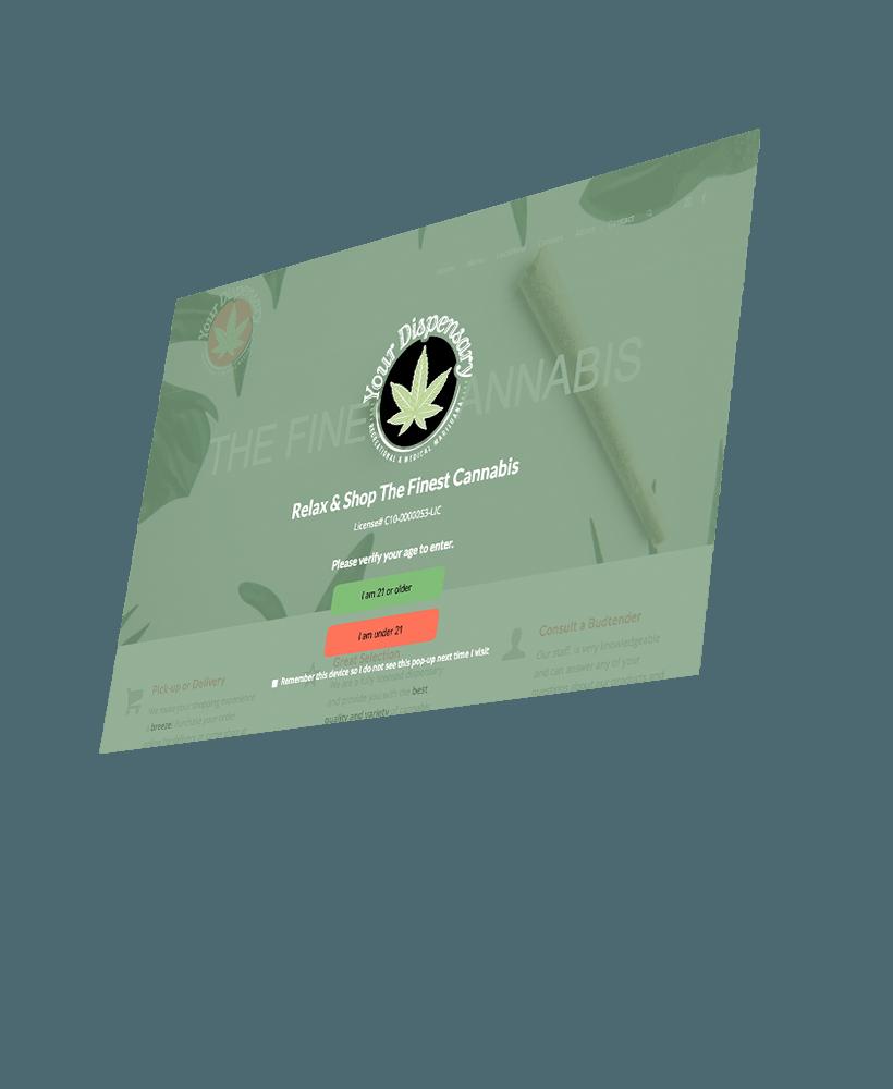 Cannabis age pop up