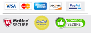 5 Star Plugins payments accepted - PayPal, credit card, debit card - secure payment processing McCaffee Secure, PayPal verified, Comodo secure
