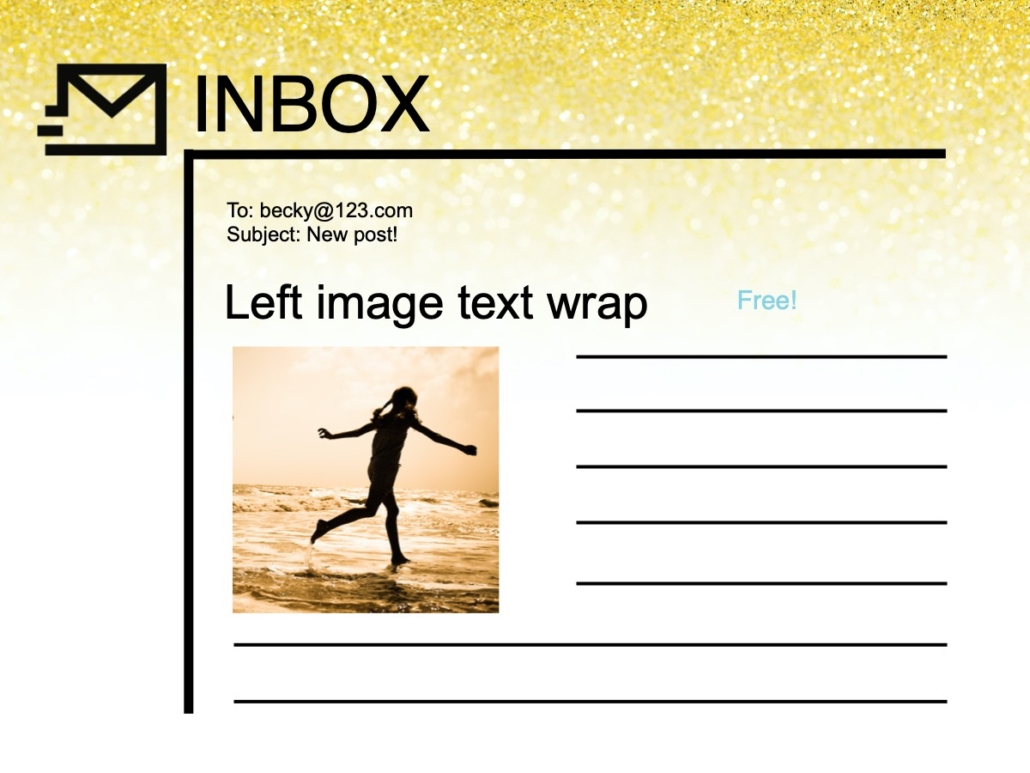 RSS email left aligned image with text wrap example