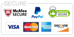 100% Secure payment through PayPal, all major credit cards, PayPal login not required